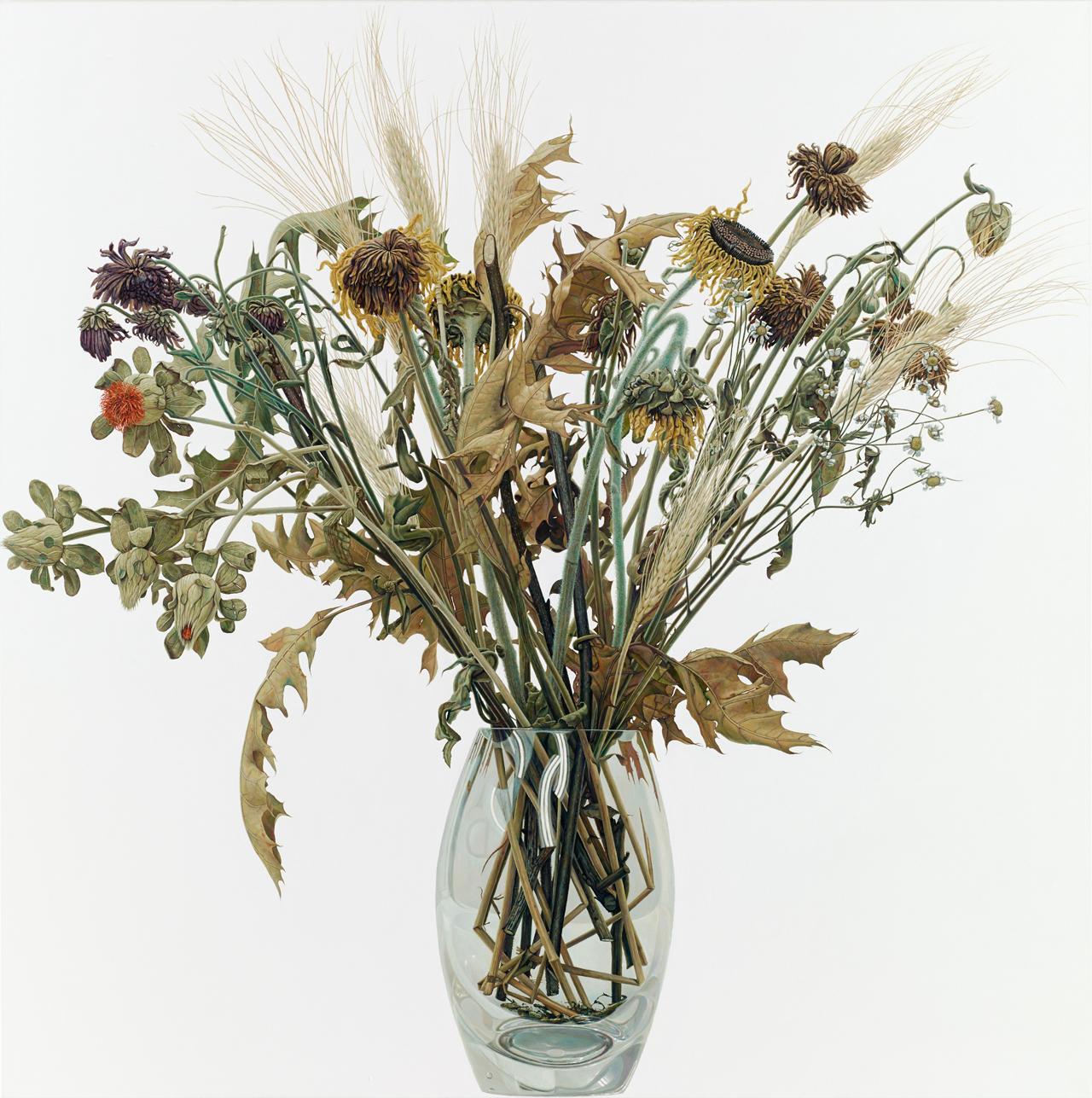 René Wirths, Bouquet, 2013, Öl auf Leinwand, 200 x 200 cm