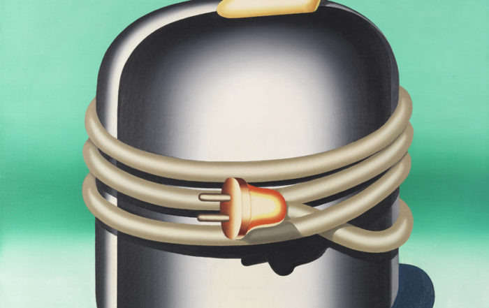 Konrad Klapheck, Der Chefideologe, 1965, Öl auf Leinwand, 90 x 99,5 cm