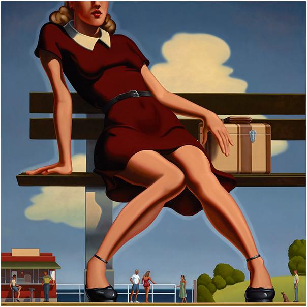 R. Kenton Nelson, Departure, 2013, Öl auf Leinwand, 154 x 154 cm