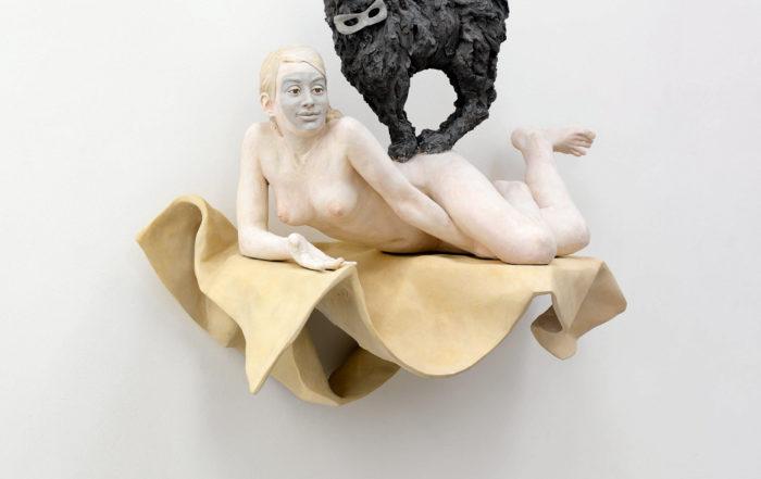 Pia Stadtbäumer, All Eyes On You (Miriam mit Katze und Masken), 2012