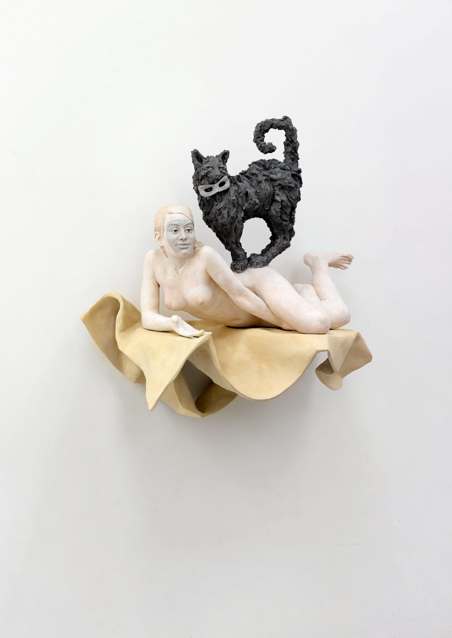 Pia Stadtbäumer, All Eyes On You (Miriam mit Katze und Masken), 2012
