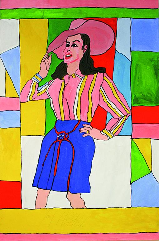 Josef Wittlich, Mannequin mit rosa Hut, 1968