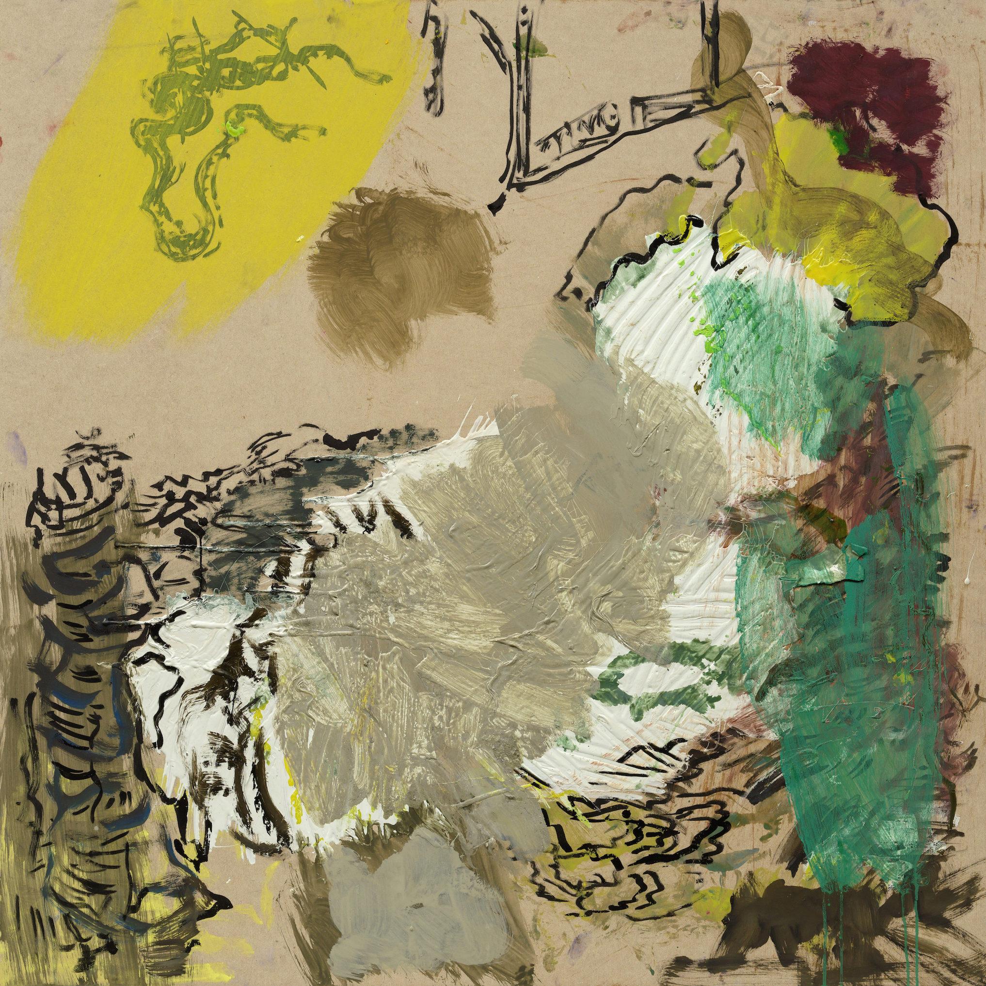 Reinhard Pods, Ohne Titel, 1983, Oil, spray on canvas, 140 x 110 cm