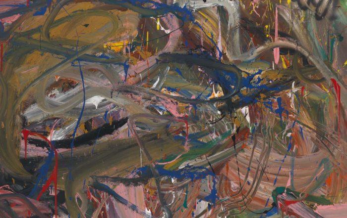 Reinhard Pods, Ohne Titel (will), 1981, Öl auf Leinwand, 200 x 220,3 cm