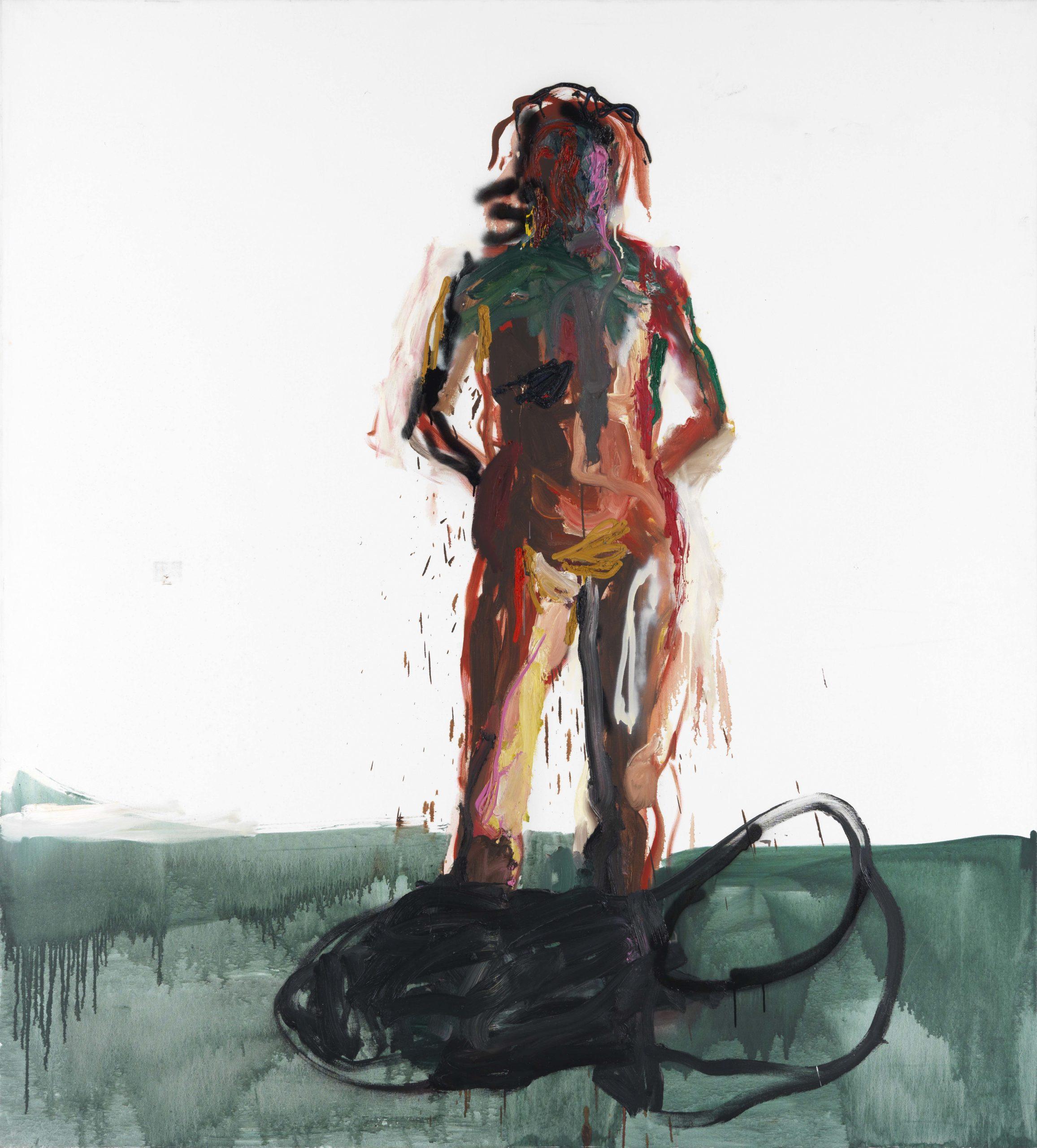 Reinhard Pods, Cordia (Cordia ist Soziologin, jetzt forscht sie in Wurzn), 1991, oil on canvas, 220 x 200 cm