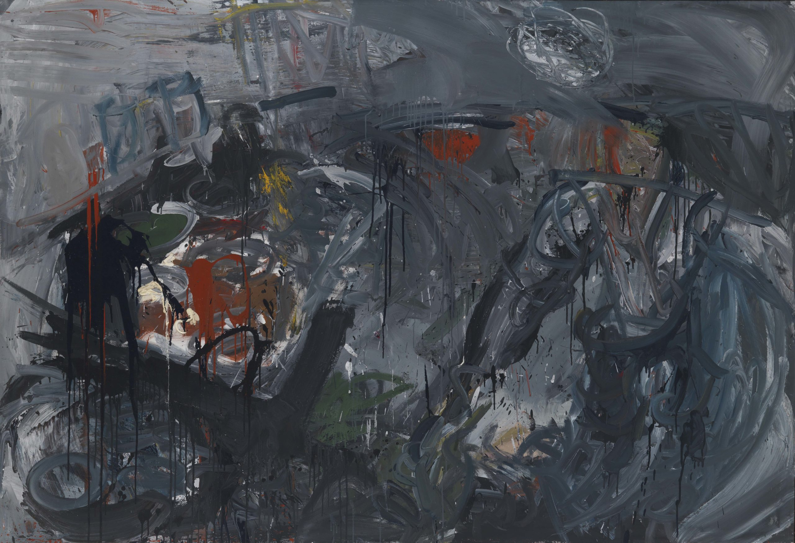 Reinhard Pods, Untitled, 1976, oil on canvas, 169.8 x 250 cm