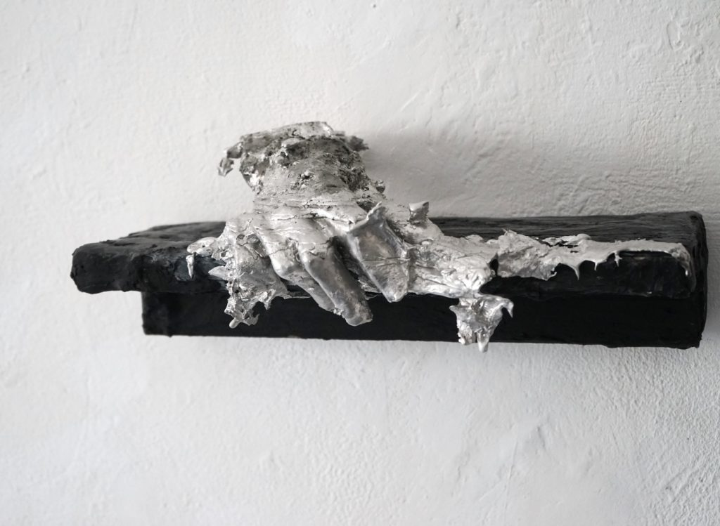 Sara Masüger Untitled, 2021, Acrystal, tin, 15cm x 40cm x 19cm, Unique